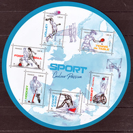 France 5325/5330 2019 Nouveauté Feuillet Sports Neuf ** TB MNH Sin Charnela Faciale 7.8 - Unused Stamps