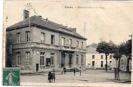 COURS - Hotel De Ville Et La Poste      (114767) - Cours-la-Ville
