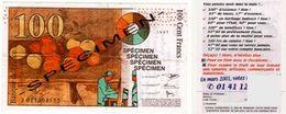 BILLET FACTICE DE 100 CENT FRANCS [ FICTIF SPÉCIMEN FAC-SIMILÉ ] (996)_NUMI4 - Fictifs & Spécimens