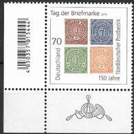 2018 Allem. Fed. Deutschland  Mi. 3412 **MNH EUL Tag Der Briefmarke: 150 Jahre Norddeutscher Postbezirk - Unused Stamps
