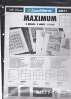 LEUCHTTURM MAX2 S, 5 ETUIS NEUF SOUS BLISTER, 350mm X 335mm.   DESSUS PLACARD - Supplies And Equipment