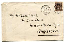 VAR De HYERES Sage N°97 Sur Env. Du 4/12/1897 Pour NEWCASTLE - Marcophilie (Lettres)