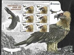 SPAIN, 2019, MNH, EUROPA, BIRDS, VULTURES, SPECIAL SHEETLET OF 6v - 2019
