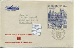 JF0595 Czechoslovakia 1969 Prague Architecture  Aerogramme - Postal Stationery