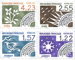 Ref. 123837 * MNH * - FRANCE. 1985. THE 12 MONTHS OF THE YEAR . LOS 12 MESES DEL AÑO - Pájaros