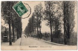 CPA 80 - MONTDIDIER (Somme) - Avenue De La Gare - Ed. Vallée - Montdidier