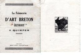 """Document-  ^"""" La Faïencerie""""- D'Art Breton- - Petits Métiers"""
