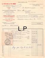 34-1280   1955 IMPORTATION DIRECTE DES BOIS DU NORD D AMERIQUE ET DE POLOGNE LES PETITS FILS DE P W MORCH A LA ROCHELLLE - France