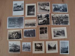 LOT DE 17 PHOTOS DE VOITURES DE FAMILLES AUTOMOBILES - Cars