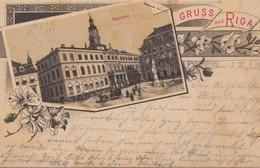 Russland: 1900: Ansichtskarte Gruss Aus Riga Nach Erfurt - Russie & URSS
