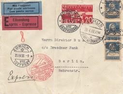 Schweiz: 1933: Eilboten, Flugpost Zürich Nach Berlin - Schweiz