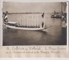 M FALLIÈRES HOLLANDE LE PRINCE CONSORT BARQUE ROYALE HOLLAND NEDERLAND  18*13CM Maurice-Louis BRANGER PARÍS (1874-1950) - Barcos