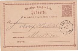 ALLEMAGNE 1871    ENTIER POSTAL/GANZSACHE/POSTAL STATIONERY  CARTE DE MUSKAU - Germany