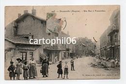 - CPA DECAZEVILLE (12) - Une Rue à Fouvernhes 1907 (belle Animation) - Photo Déjean Et Vaissié 445 - - Decazeville