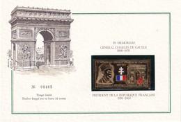 FRANCE  ENCART SOUVENIR CHARLES DE GAULLE - De Gaulle (Général)