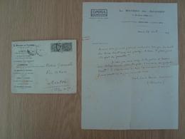 ENVELOPPE + DOCUMENT L. BAUDRY DE SAUNIER OMNIA - Marcophilie (Lettres)