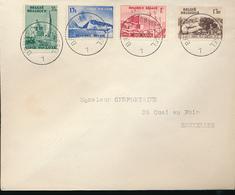 BELGIUM 1938 COB 484/487 FDC BRUSSELS 31.10.1938 - ....-1951