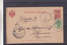Russie - Lettonie - Carte Postale De 1893 - Entiers Postaux - Oblit Libau - Exp Vers Hannover - - 1857-1916 Imperium