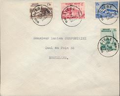 BELGIUM 1938 COB 484/487 FDC LIEGE 31.10.1938 - ....-1951