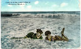 Etats-Unis - Plage - Baigneuses - Come On In The Water Is Fine A Rockaway Beach - New York - Long Island