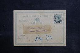 HONG KONG - Entier Postal Commerciale ( Repiquage Au Verso ) En 1895 Pour Hong Kong - L 36344 - Hong Kong (...-1997)