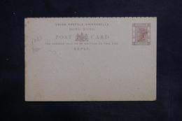 HONG KONG - Entier Postal Réponse Surchargé Non Utilisé - L 36345 - Hong Kong (...-1997)