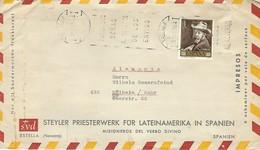 Lettre D'Espagne Vers L'Allemagne - 1961-70 Storia Postale
