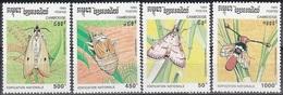 1993Cambodge1397-1400Butterflies9,00 € - Papillons