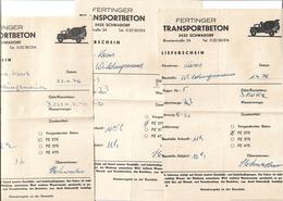 1660h: 3 Rechnungen Fertinger Beton 2432 Schwadorf (an Hrn. Kases In Wildungsmauer) Aus 1976 - Austria