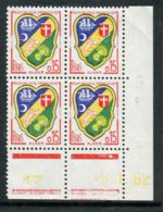 FRANCE ( COINS DATES ) : Y&T N°  1232  COIN  DATE  DU  09/01/1962  TIMBRES  NEUFS  SANS  TRACE  DE  CHARNIERE . - 1960-1969