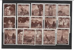 1660e: Serie ** Kompletter Spendenmarken Der Gemeinde Wien 1936 Mit Wien- Ansichten - 1918-1945 1. Republik