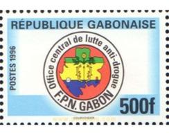 Ref. 596034 * MNH * - GABON. 1996. FIGHTING DRUGS ABUSE . LUCHA CONTRA LA DROGA - Gabon