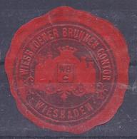 AK-36490-016- 5 -  Briefsiegelmarke -   Wiesbaden  - Wiesbadener Brunnen Contor - Allemagne