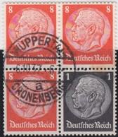 Deutsches  Reich   .    Michel   .     S 137       .    O      .     Gebraucht  .   /  .   Cancelled - Zusammendrucke