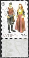 CYPRUS, 2019, MNH, EUROMED,COSTUMES OF THE MEDITERRANEAN, 1v - Costumes