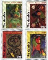 Ref. 154068 * MNH * - GAMBIA. 2004. TRIBUTE TO JOAN MIRO . HOMENAJE A JOAN MIRO - Unclassified