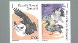 GREENLAND, 2019, MNH,EUROPA, BIRDS, DUCKS,2v SA Ex. BOOKLET - 2019