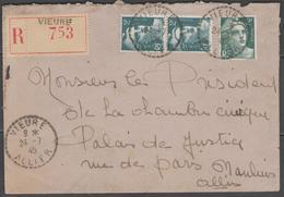 Allier:  CàD Tireté VIEURE Sur LSC REC. De 1945 - 1921-1960: Moderne