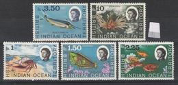 British Indian Ocean Territory 1968-1970 Marine Life Definitives MNH CV £68 (3 Scans) - British Indian Ocean Territory (BIOT)