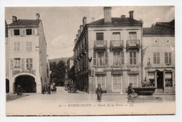 - CPA REMIREMONT (88) - Hôtel De La Poste (avec Personnages) - Editions Lévy N° 30 - - Remiremont
