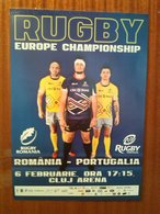 ROMANIA  CLUJ - NAPOCA  2016  RUGBY - EUROPE CHAMPIONSHIP   ROMANIA - PORTUGAL  (45x32 Cm) - Rugby
