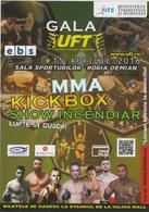 ROMANIA - CLUJ-NAPOCA -2016-  KICKBOX - Gala UFT (ultimate Fighting Tournament) -Poster (10.5x15 Cm) X 2 - Martial Arts
