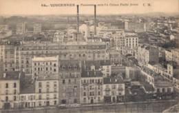 94 VINCENNES PANORAMA VERS LES USINES PATHE FRERES CIRCULEE 1919 - Vincennes