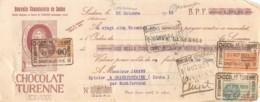 37-0435   1929 NOUVELLE CHOCOLATERIE DE SEDAN CHOCOLAT TURENNE A SEDAN - M. JAMANN A GRANDFONTAINE - Wechsel