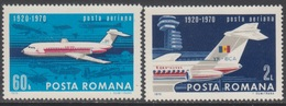 ROUMANIE 1969 2 PA 50è Anniv De L'aviation Civile N° 223 à 224 Y&T Neuf ** - Ungebraucht