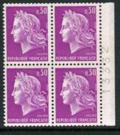 FRANCE ( POSTE ) : Y&T N°  1536  BLOC  DE  4  TIMBRES  NEUFS  SANS  TRACE  DE  CHARNIERE . - France