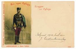 SER 7 - 5618 King ALEXANDER, Serbia, Belgrad, Litho - Old Postcard - Used - 1900 - Serbia
