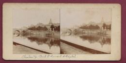 260719 - PHOTO STEREO - 71 CHALON SUR SAONE Pont St Laurent Et Hôpital - Photos Stéréoscopiques