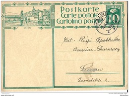 "39-32 - Entier Postal  Avec Illustration ""Olten"" Cachetà Date Thalwil 1930 - Interi Postali"