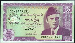PAKISTAN - 5 Rupees 1997 {Golden Jubilee Of Independence 1947-1997} UNC P.44 - Pakistan